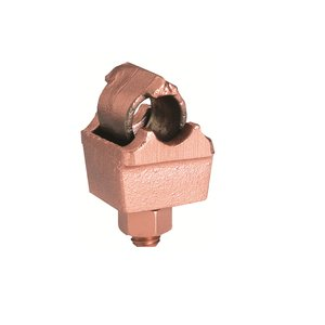 Burndy QGFL26B1 Copper Bar Tap, Cable to Bar, 8 - 2/0 AWG, Silicon Bronze Hardware