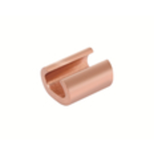 Burndy YC8C8 C-Tap Connector, Copper, CRIMPIT, 8 AWG (Run), 10 - 8 AWG (Tap)
