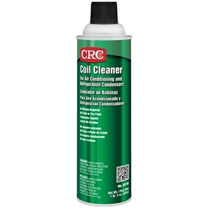 CRC 03195 Aggressively dissolves grease, oil and sludge from air conditioning and refrigeration coils. Evaporates quickly and is non-conductive, non-corrosive and non-staining. Dries residue free and does not require rinsing.