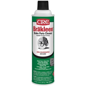 CRC 05088 The Brake Cleaner to use where compliance calls for a chlorine-free product. Formulated to quickly remove brake fluid, grease, oil, and other contaminants from brake linings & pads.