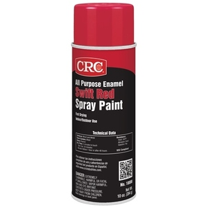 CRC 18000 Enamel Spray Paint, All-Purpose, Red, 10 Ounce