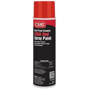CRC 18100 Red Enamel Spray Paint, Rust Proof - 15oz Aerosol Can