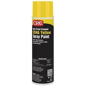 CRC 18101 Yellow Enamel Spray Paint, Rust Proof - 15oz Aerosol Can