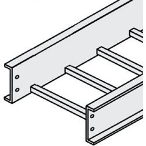 "Cablofil 06-4D09-0012-12 Two Rail Ladder Tray, 4"" High, Aluminum"