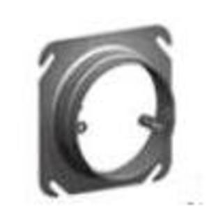 "Cablofil APR-R 4"" Square Fixture Cover, Mud Ring, Adjustable 3/4 to 1-1/2"" Raised"