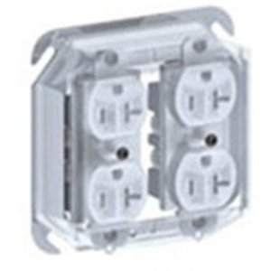 Cablofil DCP2 Device Cover, 2-Gang, Vertical Mount, Plastic