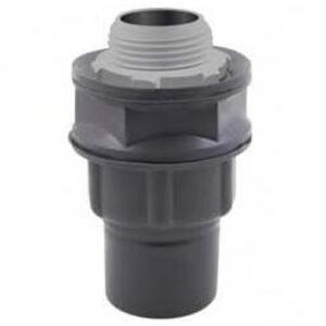 "Calbond PV0500LT50 Liquid Tight Connector, Straight, 1/2"", PVC Coated Steel"