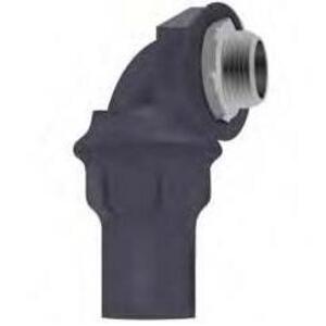 "Calbond PV0500LT5090 Liquid Tight Connector, 90°, 1/2"", PVC Coated Steel"