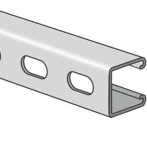 "Calbrite S45810ST58 Channel - Elongated Holes, 1-5/8"" Deep, 1-5/8"" Wide, Stainless Steel, 10' Length"