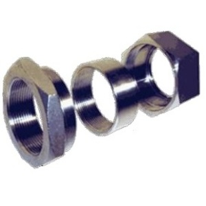 "Calbrite S607003U00 Rigid Three-Piece Coupling, 3/4"", Threaded, Stainless Steel"