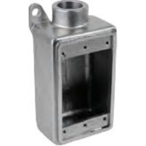 """Calbrite S60700FD00 Device Box, 3/4"""", 1-Gang, Stainless Steel"""