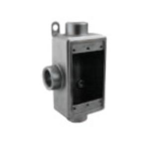 "Calbrite S60700FDCT Device Box, 1-Gang, Feed-Thru, Type FDCT, 3/4"""