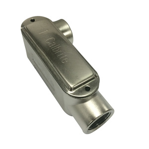 """Calbrite S60700LL00 Conduit Body, Type LL, Size: 3/4"""", Form 8, Stainless Steel"""