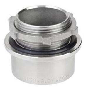 "Calbrite S61200LT00 Conduit Hub, Size: 1-1/4"", Threaded, Material: Stainless Steel"