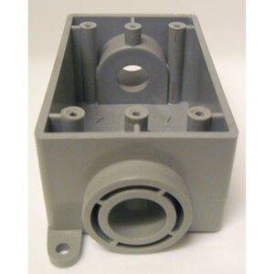 "Cantex 5133463 PVC Device Box, 1-Gang, Type: Blank, Depth: 2.38"""