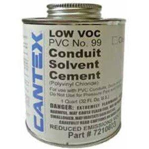 Cantex 7210603 PVC Cement, No. 99, Clear, 1 Quart