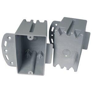 "Cantex EZ20SB Switch/Outlet Box, 1-Gang, Depth: 2-3/16"", Nail-On, Non-Metallic"
