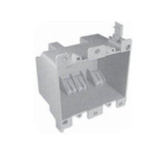 """Cantex EZ25DO Switch/Outlet Box, 2-Gang, Depth: 2-3/4"""", Brackets, Non-Metallic"""