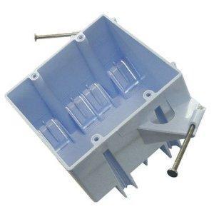 """Cantex EZ32DN Switch/Outlet Box, 2-Gang, Depth: 3-5/8"""", Nail-On, Non-Metallic"""