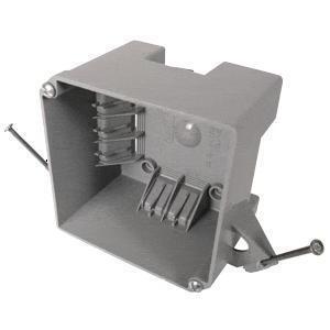 """Cantex EZ32XN 4"""" Square Box, Nail-On, Non-Metallic"""
