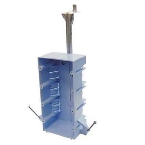 """Cantex EZ55QNB Switch/Outlet Box with Bracket, Depth: 2-5/8"""", 4-Gang, Nail-On, Non-Metallic"""