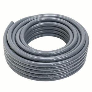 "Carlon 15009-100 Liquidtight Flexible Conduit, Non-Metallic, 1-1/4"", Gray, 100' Coil"