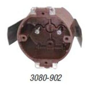 "Carlon 3080-902 Ceiling/Outlet Box, Round, 3-1/2"", Depth: 2"", Old Work, Non-Metallic"