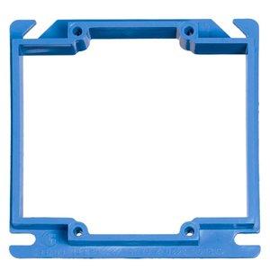 "Carlon A422 3/4"" Raised, 4"" Square ENT Box Extender"