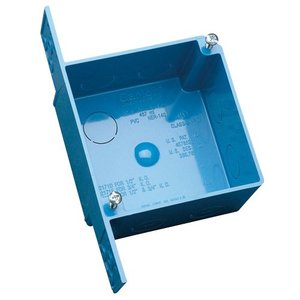 """Carlon A52171D 4"""" Square, Outlet/Switch Box, Depth: 2-3/8"""", Non-Metallic"""