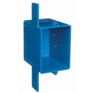 "Carlon A58381E ENT Outlet/Switch Box with Bracket, 1-Gang, Depth: 3"", 3/4"" Ko. Non-Metallic"
