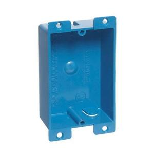 """Carlon B108R-UPC Switch/Outlet Box, 1-Gang, Depth: 1-1/4"""", Ear Brackets, Non-Metallic"""