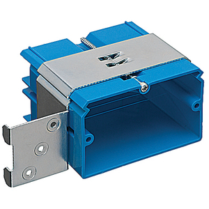 "Carlon B121ADJH Switch/Outlet Box, 1-Gang, New Work, Depth: 3.32"", Bracket"