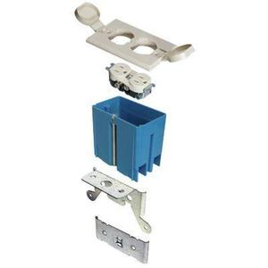 Carlon B121BFBR Adjustable Floor Box, 1-Gang, Type: Duplex, Depth: 3-1/3""