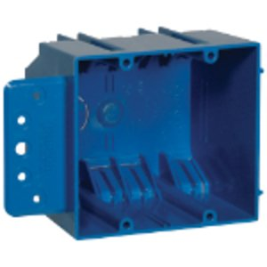 "Carlon B232B-UPC Switch/Outlet Box with Bracket, 2-Gang, Depth: 3"", Non-Metallic"