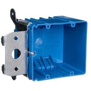 "Carlon B234ADJ Switch/Outlet Box, 2-Gang, Adjustable, Depth: 3"", Non-Metallic"