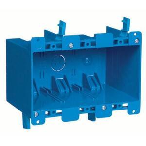 """Carlon B355R Switch/Outlet Box, 3-Gang, Depth: 3.69"""", Ear Brackets, Non-Metallic"""