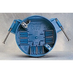"Carlon B520P-UPC 4"" Round Ceiling Box, Nail-On, 2-1/4"" Deep, Non-Metallic"