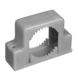 "Carlon E978HC-CAR PVC Conduit Support Strap, Double Mount, Size: 1-1/2"", Non-Metallic"