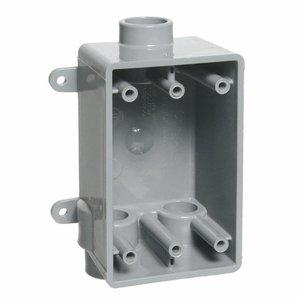 """Carlon E979FFN 1-Gang, FS Box, Type FSCC, 1"""" Hubs, Feed-Thru, Non-Metallic"""