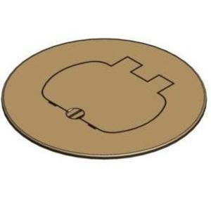 "Carlon E97BR Round Cover, Diameter: 5"", Single Door Type, Brass"