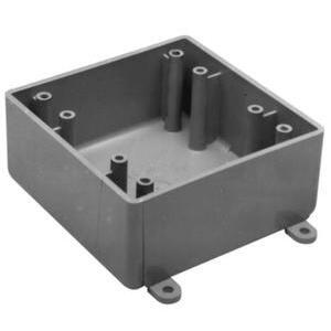 Carlon E9802 Weatherproof Box, 2-Gang, Type: 2FS, No Hubs, Non-Metallic
