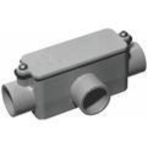 """Carlon E983F Conduit Body, Type T, Size 1"""", Cover/Gasket, PVC"""
