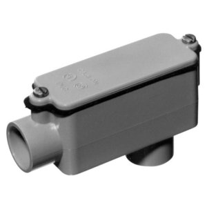 """Carlon E986F Conduit Body, Type: LB, Size 1"""", Cover/Gasket, PVC"""