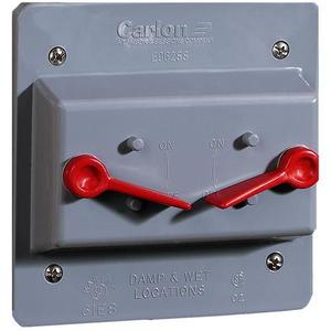 Carlon E9G2SSN Weatherproof Cover, 2-Gang, Type: Lever Switch, Non-Metallic