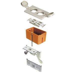Carlon SC100FBBC Floor Box, Adjustable, Low Voltage, Type: Duplex, Flip-Lid