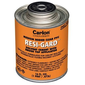 Carlon VC9963 PVC Cement, Medium, Clear, 1 Pint