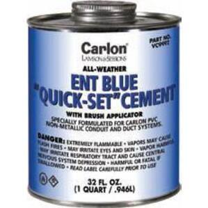 Carlon VC9992 ENT or PVC All Weather Blue Cement, Quick-Set
