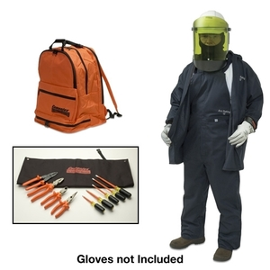 Cementex BPK-CFRCA11-XL Arc Flash Coverall Kit: Coveralls, Dielectric Hard Hat, Safety Glasses - Size: XL