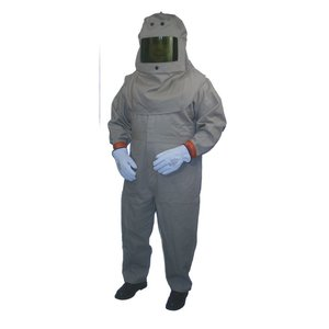 Cementex HRC4-K-XL Arc Flash Kit: Jacket, Overpants, Hood with Lens, Safety Glasses - Size: XL