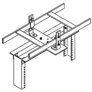 "Chatsworth 10595-718 Rack-To Runway Mounting Plate, Using J-Bolts, 3"" Rack Channel Depth, Steel"